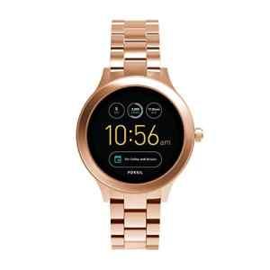 FOSSIL Q Venture/Montre connectée étanche pour femme en acier inoxydable doré rose – Compatibilité iOS & Android – Coffret montre avec son chargeur