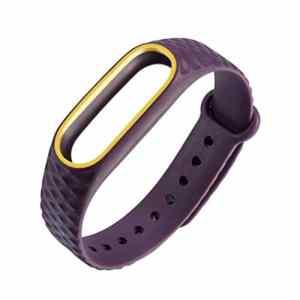 Xshuai de remplacement Bracelet de montre, la mode montre de sport de remplacement élastique en silicone Bracelet Bracelet Bracelet pour Xiaomi Mi Band 2 M Purple Yellow