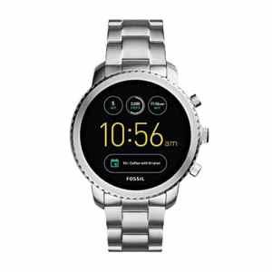 FOSSIL Montre connectée Explorist | Smartwatch homme étanche en acier inoxydable – Compatibilité iOS & Android – Coffret montre avec son chargeur