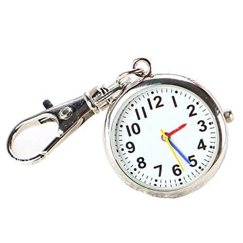 CBGDTJHDS Fantaisie Unisexe Poche Porte-clés Montre Grand Cadran Montre infirmière, Silver,银色, 6X3X1.2cm