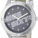Miss Sixty – WM2N8001 – Montres Femme – Radio Star – Cristaux de Swarovski – Quartz Analogique – Bracelet Cuir gris verni