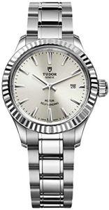 Tudor Style 12110Cadran argenté en acier inoxydable 28mm montre femme