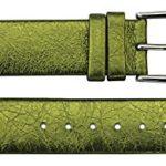 Bracelet de Rechange Moog Paris en Cuir Vachette, Verte Effet Métallique, Bande 16mm – B16016