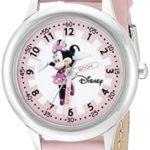 Disney by Ewatchfactory – W000038 – Montre Enfant – Quartz – Pédagogique – Bracelet Cuir Rose