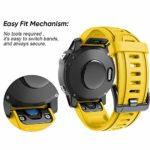 NotoCity Bracelet Fenix 6S 20 mm Sport pour Montre Intelligente Fenix 5S / 5S Plus/Fenix 6S / Fenix 6S Pro / D2 Delta S(Jaune)