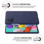 Oihxse Business Housse Case Compatible pour Samsung Galaxy J6 Prime/J6 Plus Coque en Tissu Toile Full Protection Étui Ultra Mince Léger Anti-Slip Antichoc Antifouling Hybride Cover,Bleu