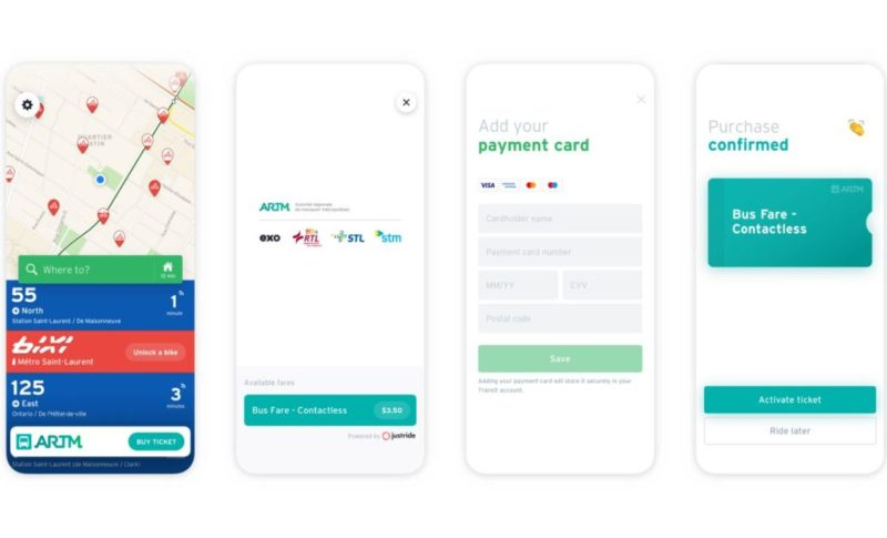 Transit App offering Touchless Fares on STM, EXO & others