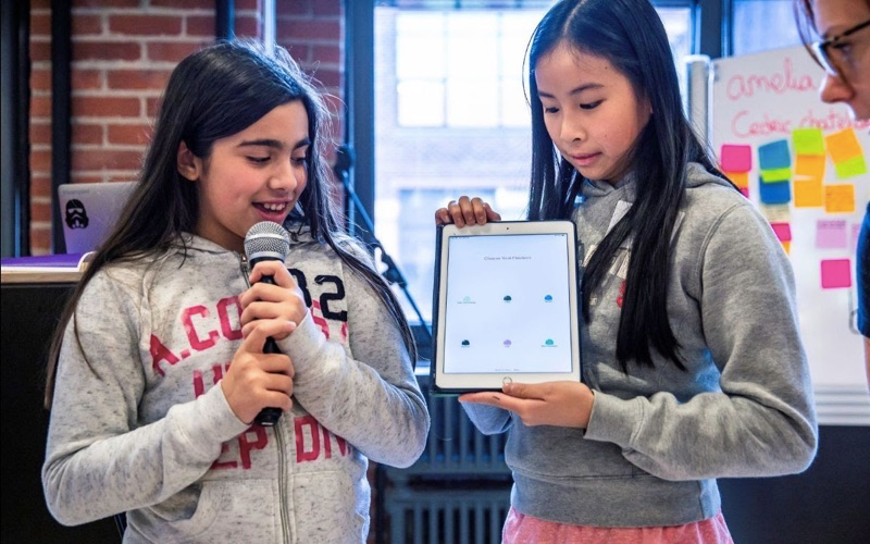 Girls showcase their apps solving local problems at Saturday's Technovation Demo Day