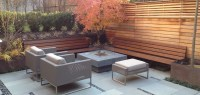 Modern Patio Landscaping in Outremont