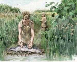 waterverf-vissen-schoonmaken
