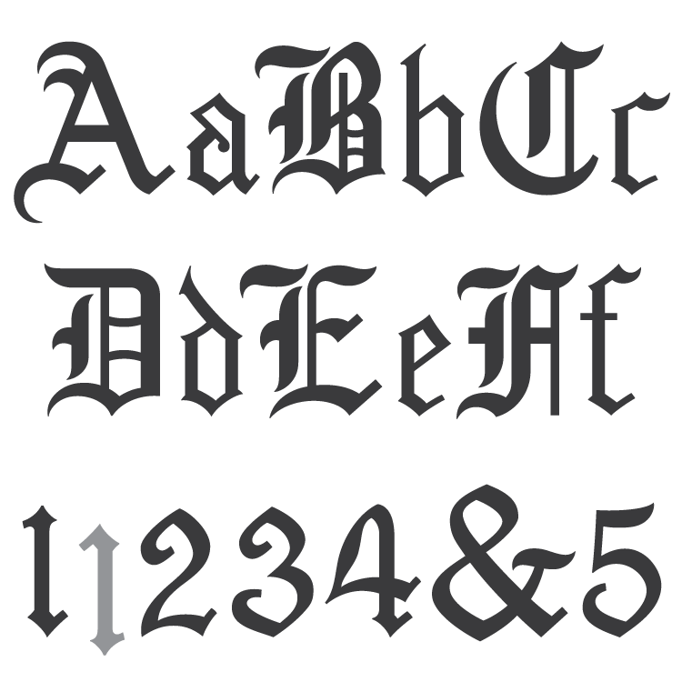 Old English Number Fonts Free Download • Oasis-dl.co