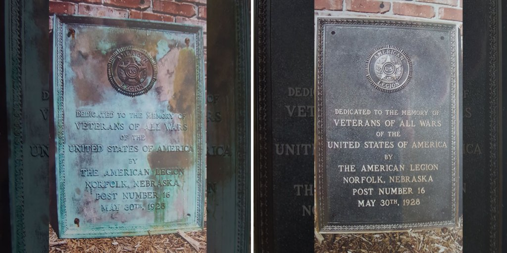 Re-finish military plaque services in Norfolk, Nebraska