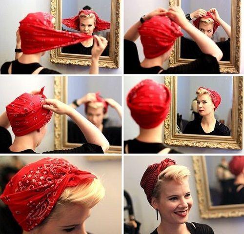 15 idees de coiffure avec un bandana