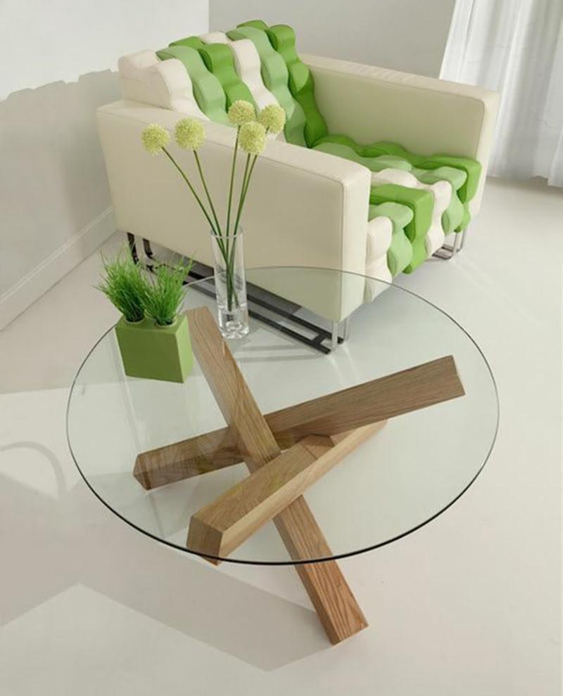 plateau de table en verre