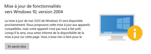 incompatibilitA-mise-A-jour-2004-windows-10