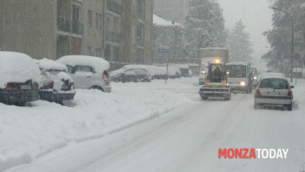Meteo prevista neve a Monza e in Brianza