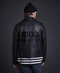 Tiger Biker Leather Jacket Black