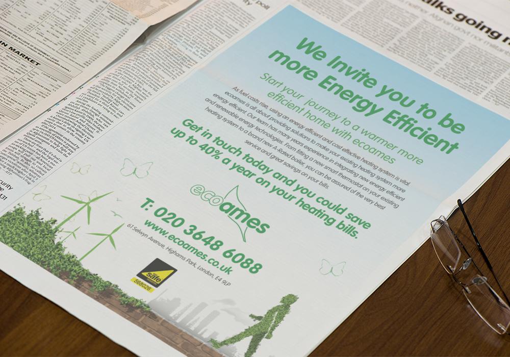 Ecoames print advert