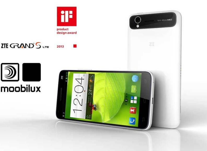 ZTE Grand S gewinnt den iF Design Award 2013