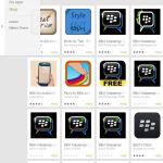 Blackberry-Messenger (BBM) Fake-Apps im Google-Play-Store.
