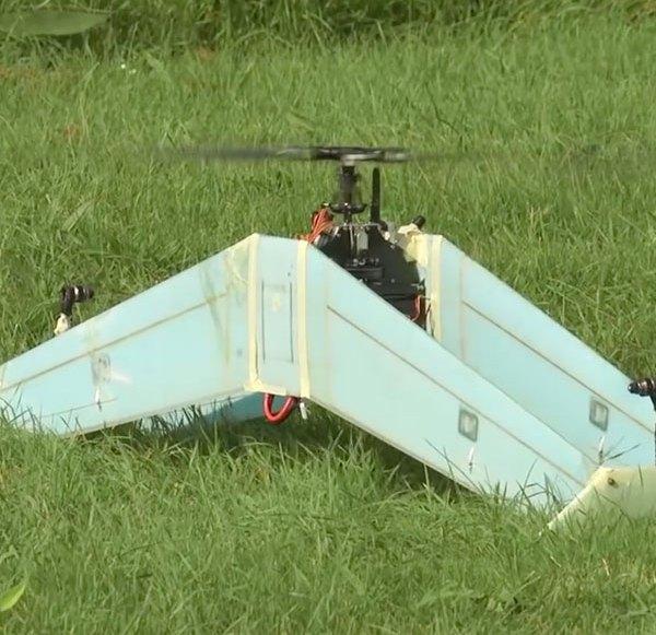 "Senkrechtstarter Drohne ""DelftAcopter"" Hybrid aus Flugzeug & Helikopter"