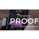 Das Armband Proof misst den Blutalkohol zusammen mit der App (Foto: Milo Sensor)