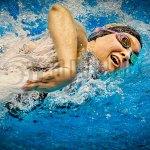 Wearable LED-Signalen an der Brille unterstützt beim Schwimmen Training (Foto: Ovao)