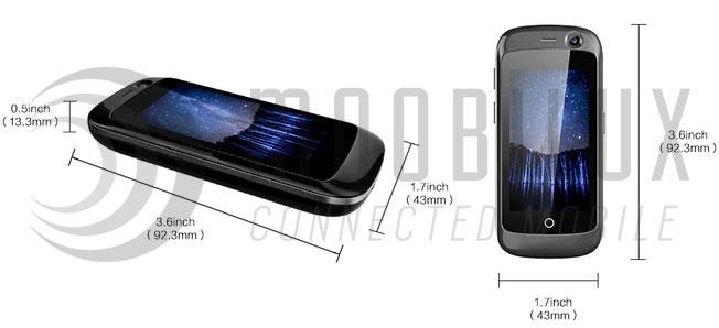Der Hersteller rühmt sich des kleinsten Smartphones der Welt. (Bild: Unihertz)
