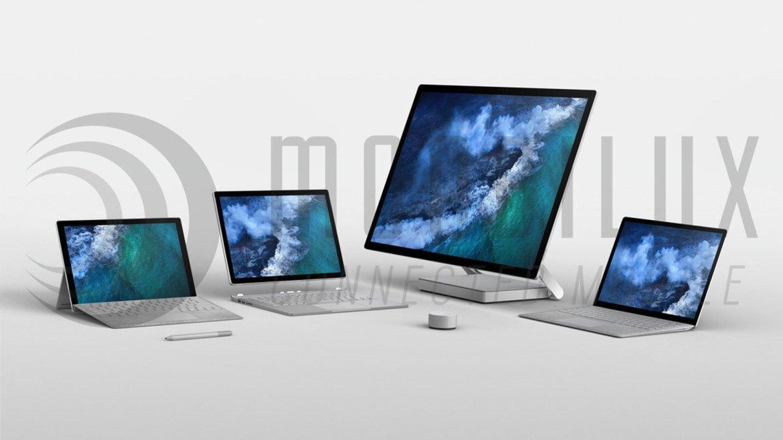 Die neue Microsoft Surface-Familie ist absofort im Handel. (Bild: Microsoft)