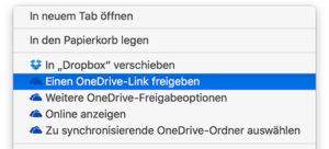 OneDrive für Mac jetzt mit Erweiterung. (Screenshot: moobilux.com)