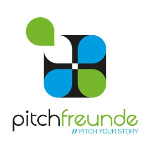 """This is also to change the color slightly, new Pitchfreunde logo and the new claim """"Pitch your story""""."""