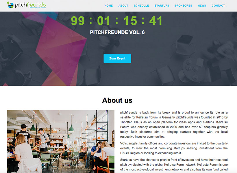 The Pitch-TV-Event series pitchfreunde starts on 12 September 2017 in Berlin with its relaunch. (Screenshot: moobilux.com)