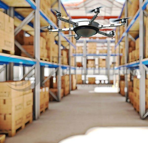 In Zukunft macht die RFID-Drohne Inventur
