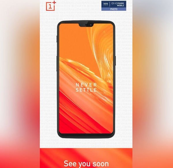 Leak, shows complete design of the OnePlus 6