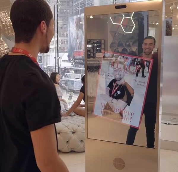 H&M und Microsoft testen smarten Spiegel