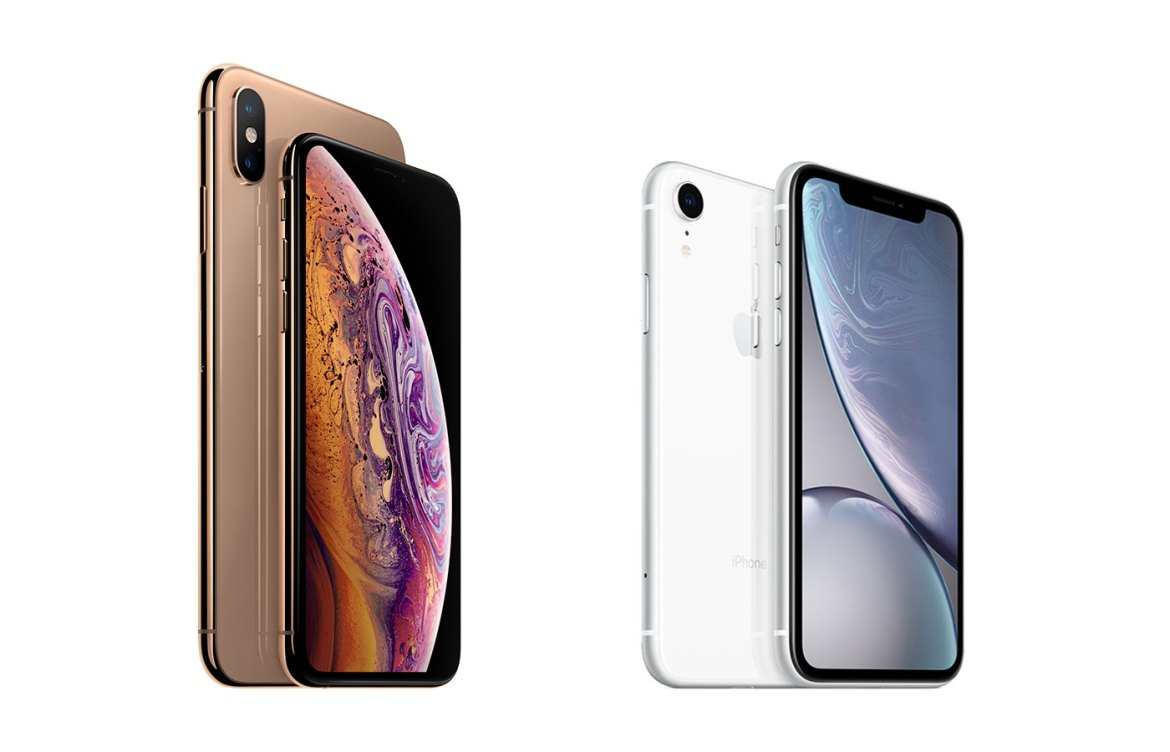 "Das ""neue"" Apple iPhone 10s und iPhone 10s Max samt iPhone 10r. (Bild: Apple)"