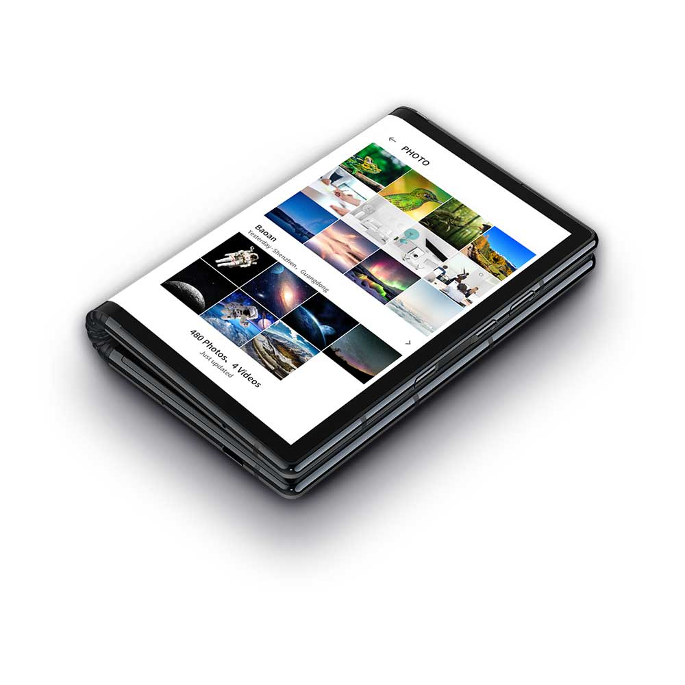 Das Flexpai hat ein 7,8 Zoll großes Display, das Gerät kann in der Mitte zusammengeklappt werden. (Bild: Royole)