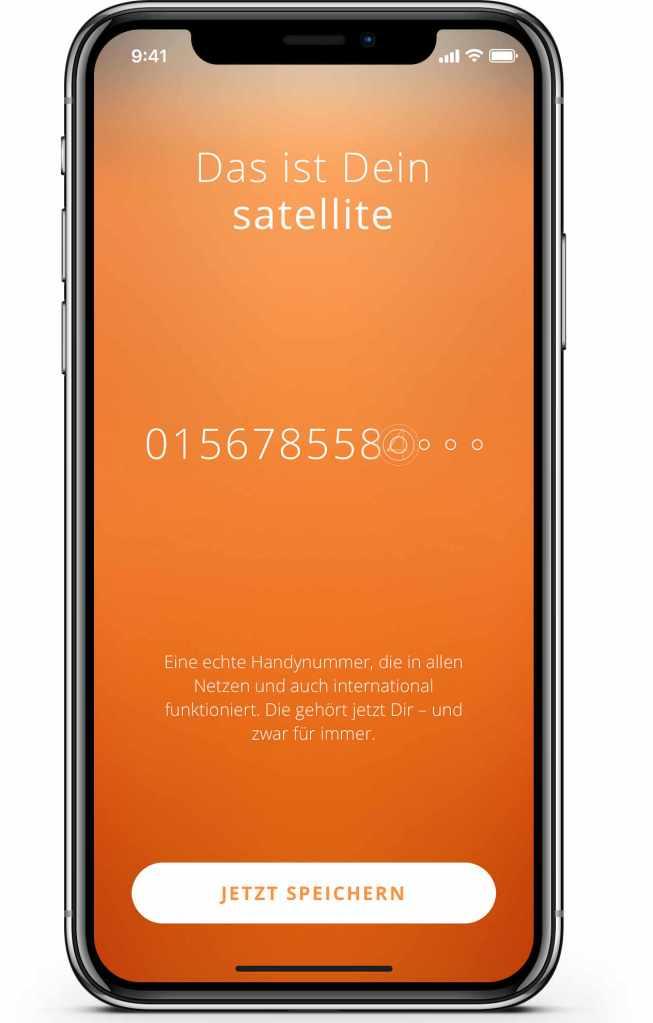 Mobilfunk via Satellite-App . (Bild: Spinate)