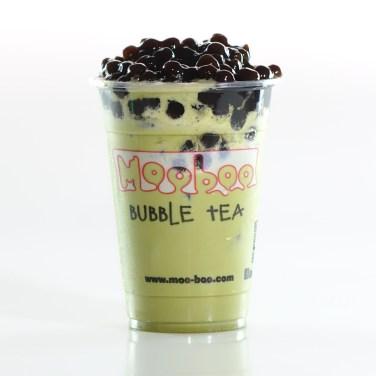 Matcha Green Tea with Tapioca