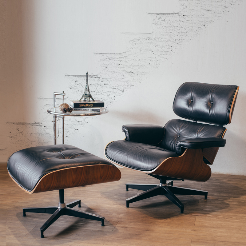 fake eames chair sturdy folding chairs replica lounge ottoman with side table furniture