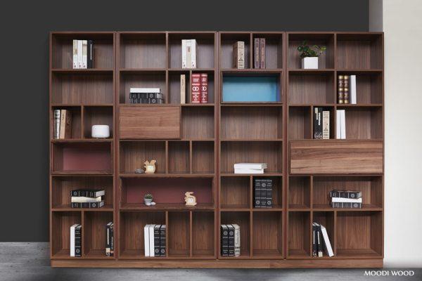 【系統櫥櫃-木矩陣書櫃】 書櫃也能跳出色彩