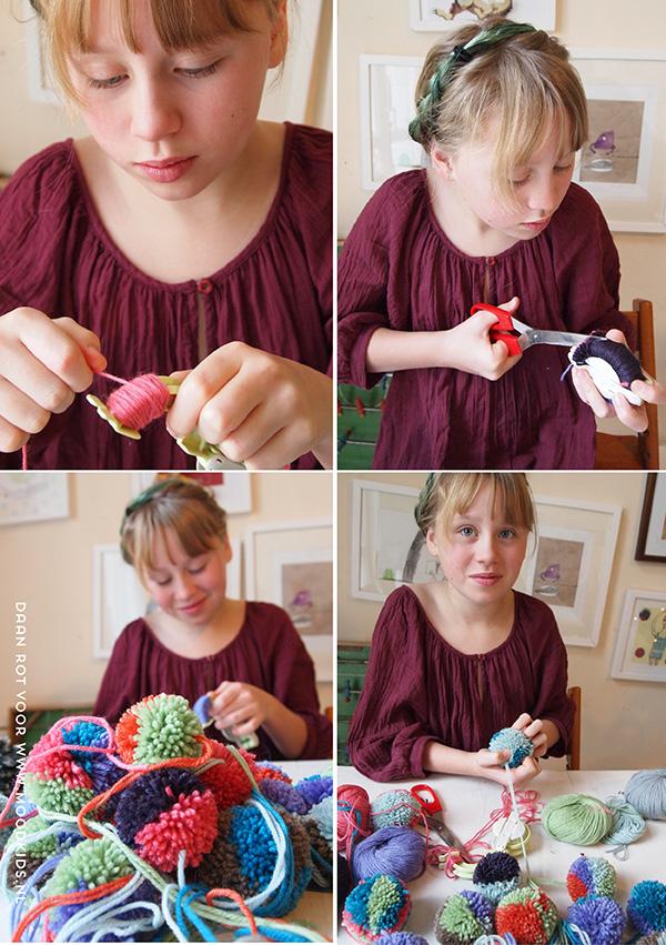Pompom Kerstballen maken  MoodKids