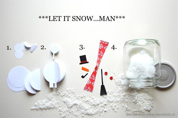 Let it Snow Zelf sneeuwbol maken  MoodKids