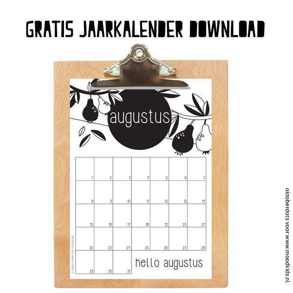 Leuke maandkalender augustus  MoodKids