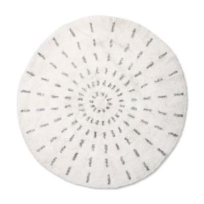 tapis de bain rond swirl 120cm