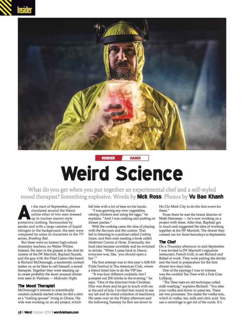 Word Vietnam Article 'Weird Science' October 2015 - Mood Therapist, Rich McDonough