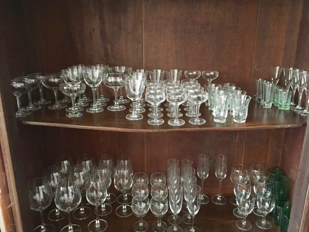 Glassware at my Modernist Home Bar - The Mod Therapist - Rich McDonough