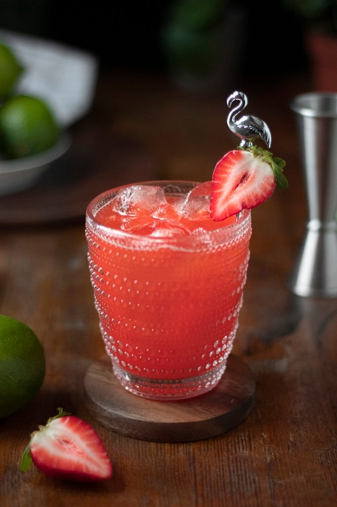 strawberry margarita recipe with muddled strawberries