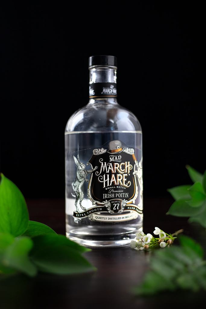 bottle of Mad March Hare poitin.
