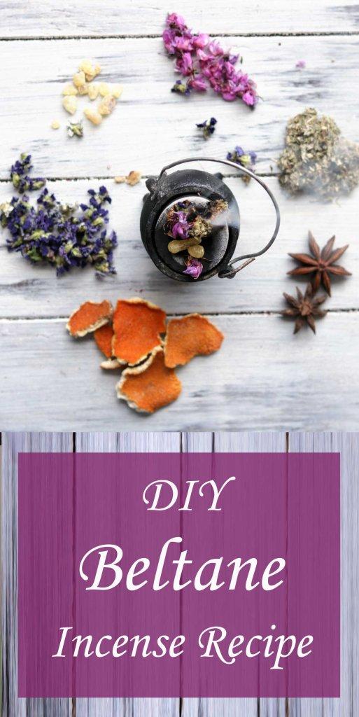 DIY Beltane Incense Blend Recipe for the Sabbat.